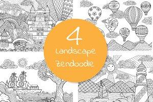 Landscape doodles