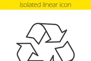Recycle linear icon. Vector