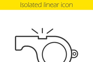 Whistle linear icon. Vector