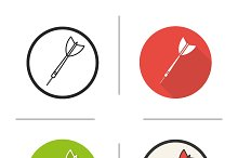 Darts arrow. 4 icons. Vector