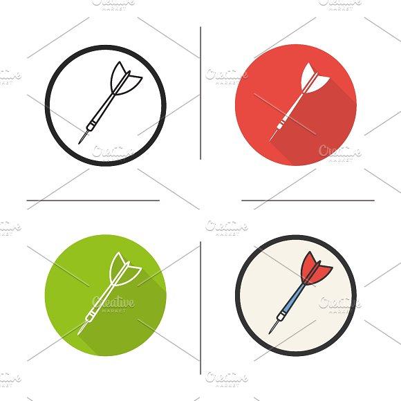 Darts arrow. 4 icons. Vector - Icons