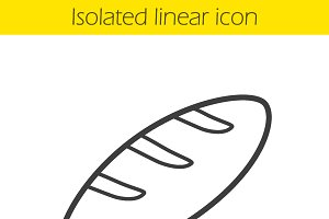 Bread linear icon. Vector