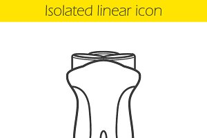 Electric shaver linear icon. Vector