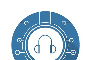 Digital music icon. Vector