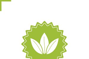 Loose tea leaves badge icon. Vector