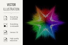 Star. Multicolored mosaic.
