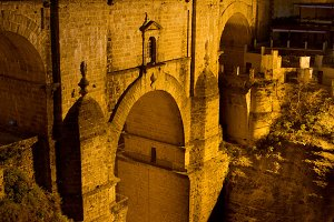 Puente Nuevo at Night in Ronda