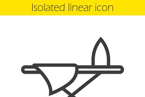 Ironing board linear icon. Vector