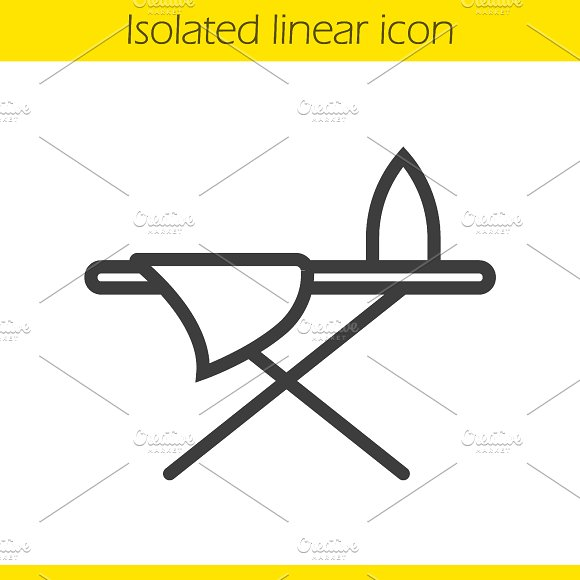Ironing board linear icon. Vector - Icons