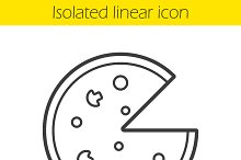 Pizza linear icon. Vector