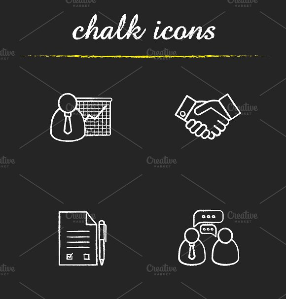 Business. 4 icons set. Vector - Icons