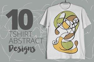 10 T-shirt Abstract Design