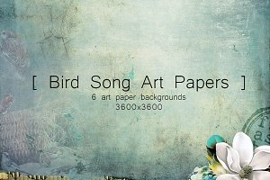 Bird Song Art Papers