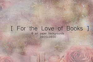 For the Love of Books Art Papers