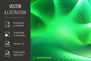 abstract green fractal background
