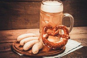 Bier pot with pretzel