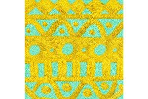 Golden doodle ethnic pattern