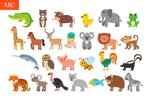 ABC Cute animals alphabet