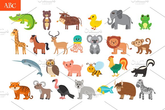 803394 ABC Cute Animals Alphabet on Color By Numbers For Kids