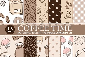 Coffee Time Digital Paper