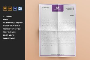 (32% Off) Simple & Clean Letterhead