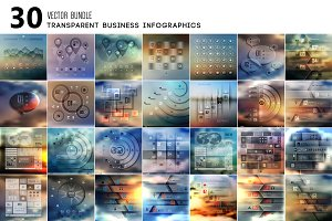 Transparent business Infographics