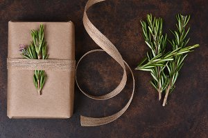 Paper Wrapped Present Rosemary