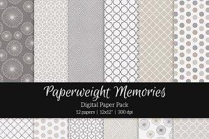 Patterned Paper – Linen & Ash
