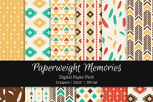 Patterned Paper – Feather & Arrow