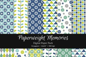 Patterned Paper – Geometric & Floral