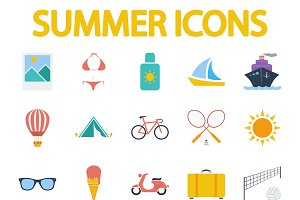 Summer icon set.