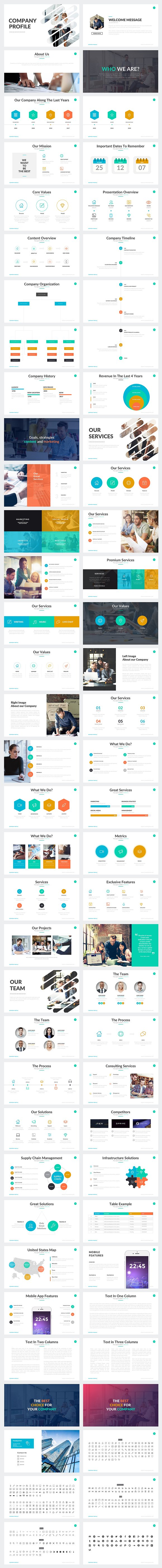 Company Profile Powerpoint Template Presentation Templates