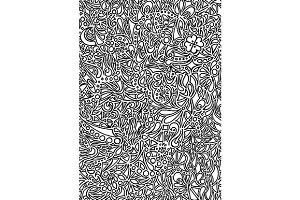 Doodle monochrome pattern vector