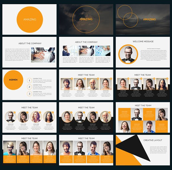 Amazing Powerpoint Template Presentation Templates Creative Market