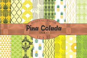 Pineapple patterns 'pina colada'