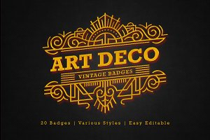 Art Deco - Vintage Badges