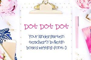 Dot Dot Dot - a Handwritten Font