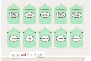 Kitchen Canister Clipart