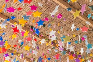 Stars made from candle for deco