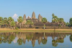 Angkor Wat Temple seen across