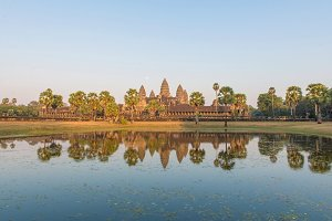 Angkor Wat Temple seen across