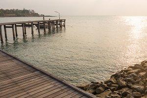 Bridge walkway at sea