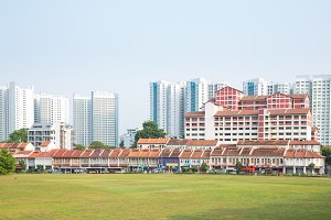 high-rise buildings in Singapore.