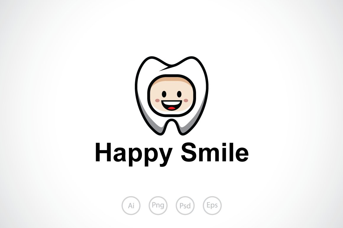 happy smile logo template logo templates creative market