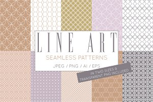 Geometric Line Art Digital Papers