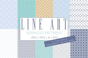 Simple Elegant Line Art Pattern Set