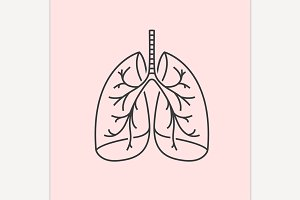 Vector Lungs Icon