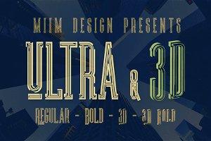 Ultra - Modern Font