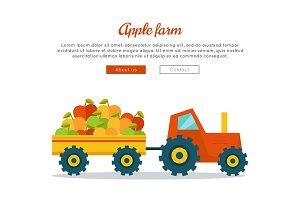 Apple Farm Web Vector