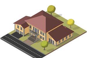 Villa isometric